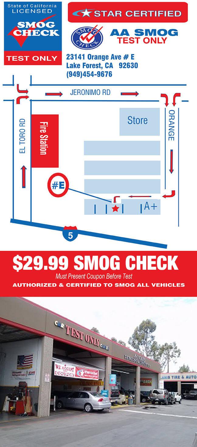 $29 99 Smog Coupons - STAR Station - AA Smog Test Only